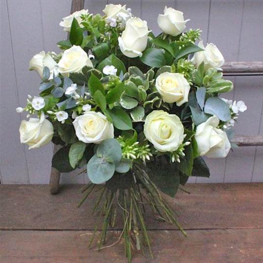 Dozen long stemmed white roses the flower boutique florist dublin dozen long stemmed white roses mightylinksfo